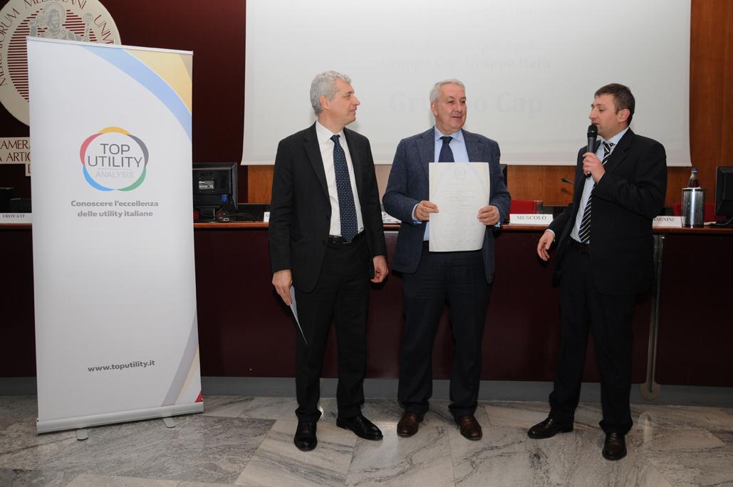 DSC_0288_Gruppo CAP Vincitore del Premio Comunicazione Top utility III Edizione